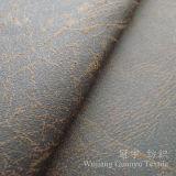 Tessuto del cuoio della pelle scamosciata del residuo di timbratura dell'oro per il sofà