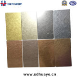 Colorer les prix enduits de cuivre de feuille d'acier inoxydable des intérieurs d'ascenseur