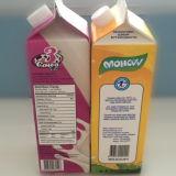3 Karton Met geveltop van de Melk van de laag het Verse met Kromme