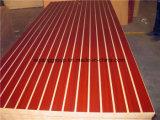 China-Hersteller AAA-Grad E1 gekerbter MDF/Melamine MDF mit 7 oder 11 Nuten für System