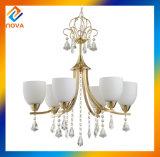 Lampe en verre orientale classique en laiton de lustre