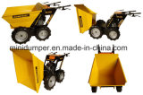 descarregador elevado de Quaity do Wheelbarrow da potência do motor de 6.5HP Loncin mini