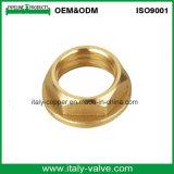 Tuerca Hex de cobre amarillo modificada para requisitos particulares certificada de la calidad (AV-BF-7042)