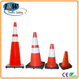 "28 "" Leuchtstoff Orange PVC Traffic Cone mit Black Base"