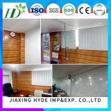 fabricante de madeira de China do painel da decoração do teto do PVC da largura de 20cm
