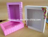 Популярная коробка подарка окна ясности печатание конструкции