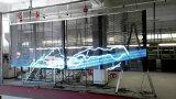 Im Freien farbenreicher P10 LED transparenter Bildschirm