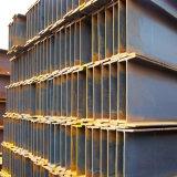 Piezas del marco de acero soldadas con autógena por la viga de acero de H