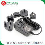 Spannungs-Adapter Wechselstrom-18V1.5A mit austauschbarem wir Au Großbritannien-EU JP KN-Stecker