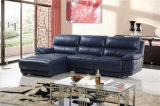Le sofa de salle de séjour avec le sofa moderne de cuir véritable a placé (454)