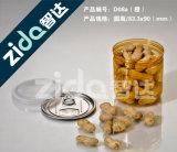 380ml Clear Plastic Pet Octagonal Jarra redonda de boca larga, garrafa de armazenamento de plástico seca seca