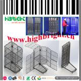 Faltbares Metalldraht-Ineinander greifen-Rasterfeld fahrbarer rollender Ladeplatten-Rahmen