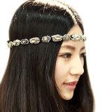 Il Gray di cristallo del Rhinestone di modo delle retro donne calde di stile borda la fascia Hairwear di Hairband