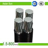 Размер (Al) кабеля алюминиевого кабеля ABC силы воздушный связанный