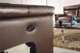 Talla grande del color de Brown para el conjunto del sofá del cuero del chalet