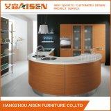 Gabinete de cozinha de madeira artificial do folheado no estilo europeu