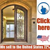 둥근 상단 및 사치품 청동색 등록 철 문 디자인