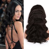 Do cabelo humano do Virgin de 100% perucas cheias do laço
