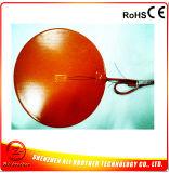 diámetro 300*1.5m m 240V 500W del calentador del caucho de silicón del calentador de la impresora 3D