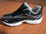 Chaussures courantes d'hommes de sport noir de couleurs