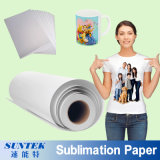 papel de transferência do Sublimation do rolo de 100GSM A3 A4 para a tela do poliéster