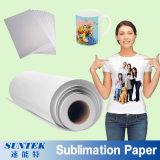 papier de transfert de sublimation de roulis de 100GSM A3 A4 pour le tissu de polyester