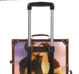 Lockbox retro britânico titânico do chassi da placa da mala de viagem da caixa de Rod da forma