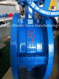 쪼개지는 바디 PTFE 일렬로 세우는 두 배 플랜지 나비 벨브