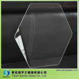 Hexágono Clear Float Tempered Flat Glass Covers para Lamp Shade (iluminación)