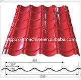 カラー機械を形作る鋼鉄波形の屋根のパネルによって艶をかけられるタイルロール