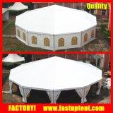 Шатер Pagoda шестиугольника ясной крыши прозрачный шестиугольный для свадебного банкета