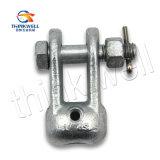 Überlegener geschmiedeter Stahl galvanisierter Kontaktbuchse-Gabelkopf