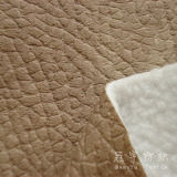 Leather impresso Polyester Fabric con Fleece Backside