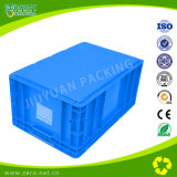 Blue Color EU Container with Heded Lid Plastic Box