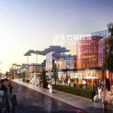 Projeto arquitectónico exterior da rendição do planeamento de cidade
