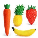 Vara personalizada movimentação da memória do alimento do PVC do flash do USB da fruta