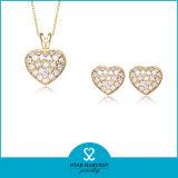 CZ (J-0156)とセットされる卸し売り記念日925の純銀製の宝石類