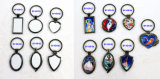 Красивейший металл Keychains Сердц-Формы сублимации украшения