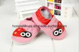 Pattern方法赤い女性: 革赤ん坊靴
