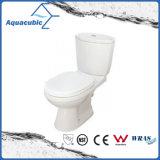Het Dubbele Gelijke Tweedelige Verlengde Toilet van Siphonic in Wit (ACT9028)