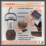 Amo d'attaccatura di funzionamento manuale di campeggio autoalimentato solare ricaricabile della maniglia dell'oscillazione della dinamo della presa del USB della lanterna dei 36 LED