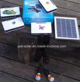 Nécessaires solaires d'éclairage de DEL avec des ampoules de 2PCS 1W DEL avec le chargeur d'USB