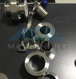 Três partes de válvula de borboleta soldada com o punho plástico manual (Ás-Df-d