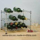 Cremagliera piana di memoria del vino di /Red della cremagliera di visualizzazione del vino dell'uva del bicromato di potassio registrabile delle 3 file