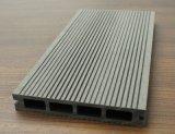 Plancher Grooved de Decking du modèle creux WPC