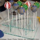 Présentoir acrylique de bruit de gâteau de lucette
