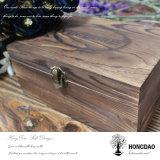 Herramientas de madera antiguas de encargo de Hongdao pila de discos el rectángulo de almacenaje Wholesale_L