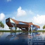 文化建物および科学的なアーキテクチャの3Dレンダリング