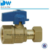 Ball de cobre amarillo Valve para Water Meter Male Extremo