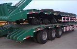 40tons 2車軸低いベッドのトレーラー